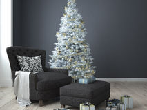 Christmas living room. 3d rendering Stock Photography