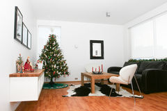 Christmas living room Royalty Free Stock Images