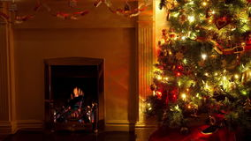 Christmas Living Room stock video footage