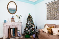 Christmas Living Room Interior Royalty Free Stock Image