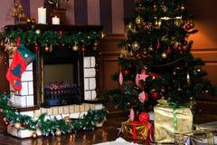 Christmas living room Stock Image