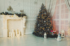 Christmas living room interior decoration Royalty Free Stock Photography