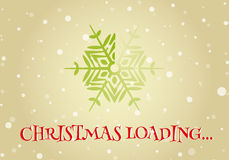 Christmas loader from snowflake. Christmas loader from snowflake and Christmas loading inscription. Original design element or template for banner, card Stock Photos