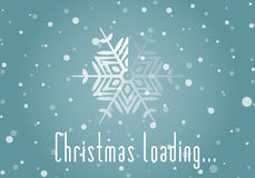 Christmas loader from snowflake. And Christmas loading inscription. Original design element or template for banner, card, invitation, label, postcard, website Royalty Free Stock Photos