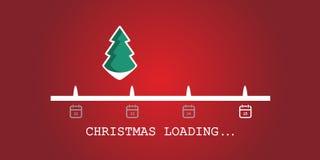 Christmas loading. Christmas tree loading bar background. vector. EPS10 stock image