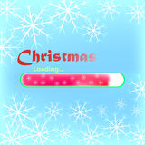 Christmas loading. Vector, Background with snowflakes Stock Photo