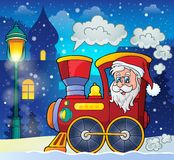 Christmas locomotive theme image 2 Stock Images