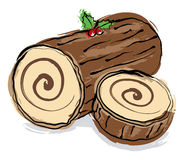 Christmas log Royalty Free Stock Photography