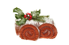 Christmas log Stock Photos