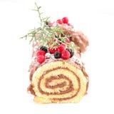 Christmas log Stock Images