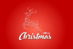 Christmas logo with red background. deer graphic Royalty Free Stock Photo