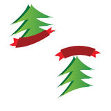 Christmas trees logos Royalty Free Stock Photography