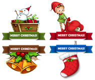 Christmas logos Royalty Free Stock Photography
