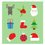 Christmas logos/icons,banners Royalty Free Stock Photography