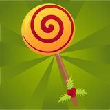 Christmas lollipop background Stock Photo