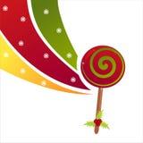 Christmas lollipop background Stock Image