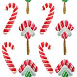 Christmas Lollipop candy, isolated on white. Stock Image