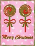 Christmas lollipop illustration Royalty Free Stock Images