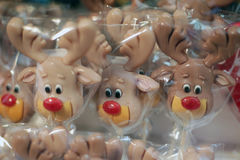 Christmas lollipops at christmas market. Krakow Stock Photography