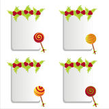 Christmas lollipops frames Royalty Free Stock Photography