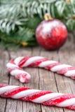 Christmas lollypop lollipop with festive decoration Stock Photos