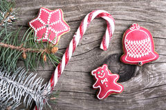 Christmas lollypop lollipop with festive decoration Royalty Free Stock Photo