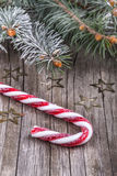 Christmas lollypop lollipop with festive decoration Stock Photo