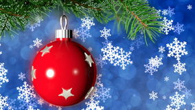 Christmas loopable background with nice ball stock footage