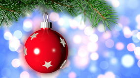 Christmas loopable background with nice ball stock video