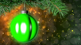 Christmas loopable background with nice ball stock video footage