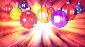 Christmas loopable background with nice balls stock footage