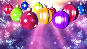 Christmas loopable background with nice balls stock video