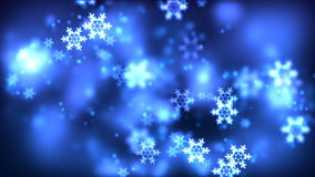 Christmas loopable background with nice falling snowflakes