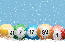 Christmas lottery bingo background Stock Photography