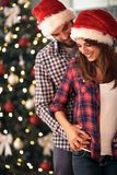 Christmas love couple together, concept. Christmas love couple together, community in relationship concept Stock Photos