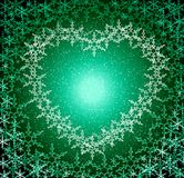 Christmas love green frame Stock Photography