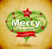 Christmas love heart. With red decorations Royalty Free Stock Images