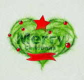 Christmas love heart Stock Images