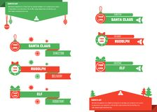 Christmas Lower Thirds. Vector Illustration of Christmas Lower Thirds for Design, Website, Background, Banner. Titles Element Template Stock Photos
