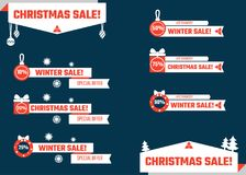 Christmas Lower Thirds Royalty Free Stock Images