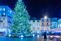 Christmas in Lugano Stock Photography