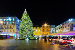 Christmas in Lugano Royalty Free Stock Photography