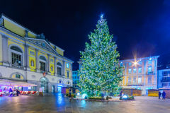 Christmas in Lugano Stock Image