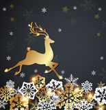 Christmas luxurious background with deer Royalty Free Stock Photo