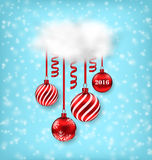 Christmas Luxury Background with Balls Stock Photo