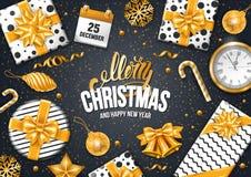 Festive Christmas Greeting Card Stock Photos
