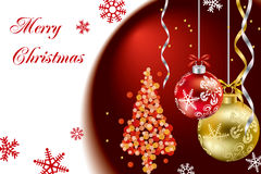Christmas luxury frame Stock Images