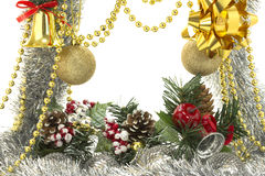 Christmas luxury frame Royalty Free Stock Photo