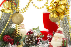 Christmas luxury frame Stock Image