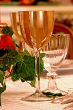 Christmas luxury glass Stock Photo